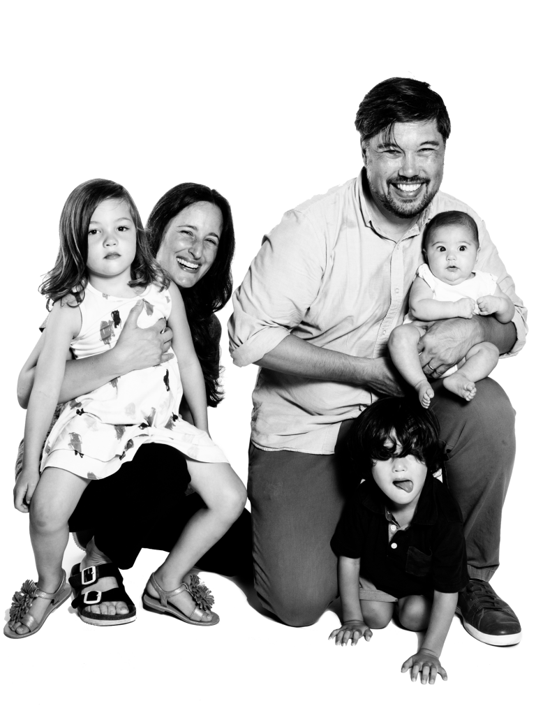 NAOMI SAGE and husband SAGE RAMADGE with children, NOA, YOSSI, and MICAH
