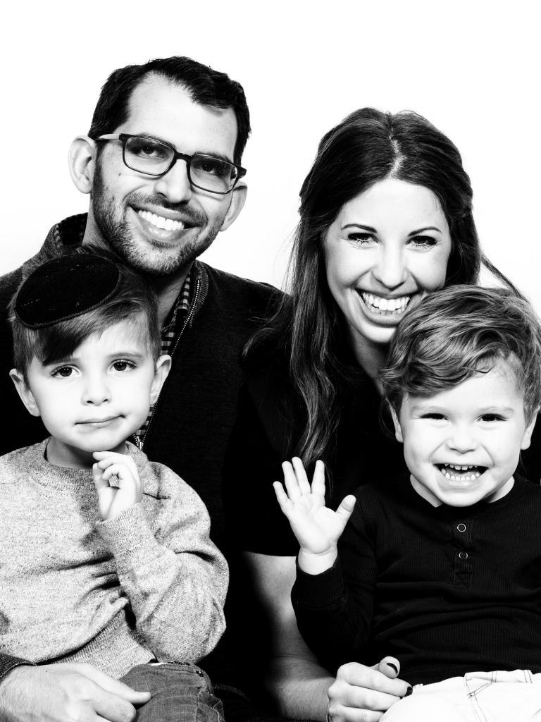 NAVA UNTERMAN ULMER with husband, EITAN and children, GAVRIEL and ELIJAH